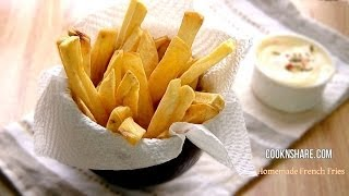 Homemaded French Fries With Mayo Mustard Dip