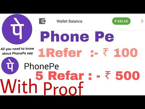 Phone pe old & new user cashback offer/ Refar & Earn !! By, Anything India