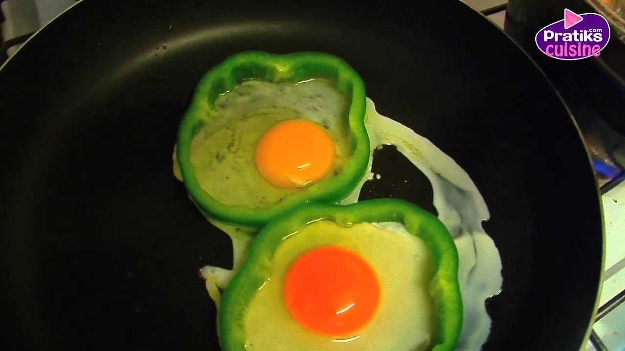 Plat comment cuisiner des ufs au plat dans une robe de poivron youtube - Cuisiner des oeufs ...