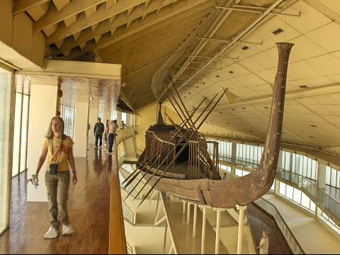Cheops Solar Boat and Great pyramid - new discoveries, Giza Egypt