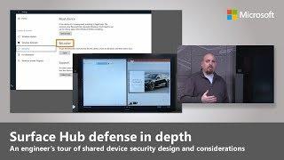 Microsoft Surface Hub's defense in depth security measures