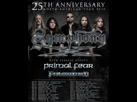 "SYMPHONY X ""25th Anniv. tour"" 2020 w/ PRIMAL FEAR and FIREWIND!"