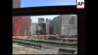 Employees return to building damaged in Sept 11 attack