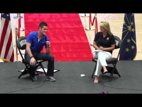 David Boudia Interview at Noblesville High School 8-26-2012