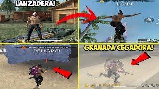 """ASI ES COMO FUNCIONA LA """"NUEVA LANZADERA"""" Y """"GRANADA CEGADORA"""" EN FREE FIRE!!"""