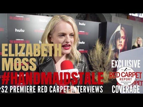 Elisabeth Moss interviewed at the premiere of Hulu's The Handmaid's Tale S2 #ResistSister