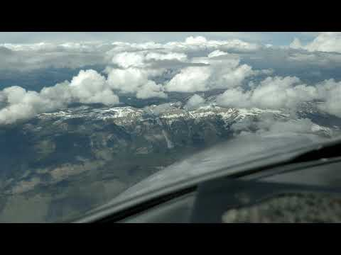 Private jet takeoff from Jackson Hole