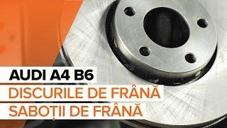 Cum se schimba discurile de frână si placutele de frana din față pe AUDI A4 B6 | Tutorial HD