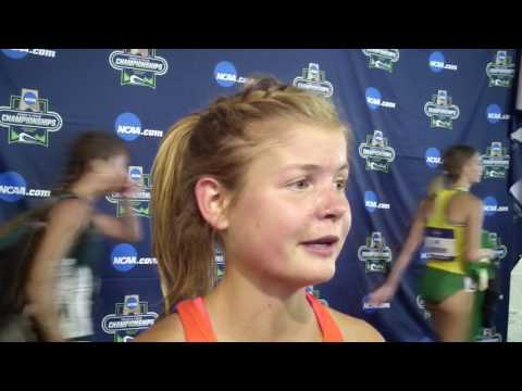 Allie Ostrander after winning first NCAA title in steeple at 2017 NCAAs