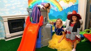 Çocuklarla Pamuk Prensesli Cadılı ve Rapunzelli Kostüm Partimiz!  Fun Costume Party with Kids