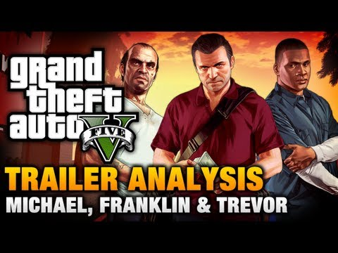 GTA 5 - Michael / Franklin / Trevor Trailer Analysis [Complete]