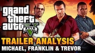 Video GTA 5 - Michael / Franklin / Trevor Trailer Analysis [Complete] download MP3, 3GP, MP4, WEBM, AVI, FLV Januari 2018