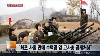 """국정원 """"북한 현영철, 반역죄로 고사총 공개 처형"""""""
