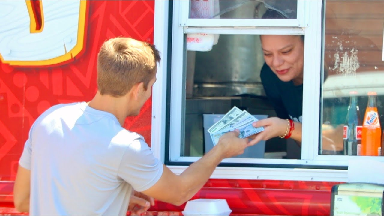 Buying One Taco, Then Tipping $1000