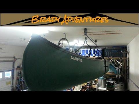 Options for Storing Kayak in Garage | Canoe Ceiling Hoist Lift System
