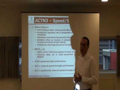 Genes ex of gene and impact on physical performance ACTN3
