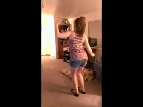 White Girl Dancing to Sage The Gemini Gas Pedal