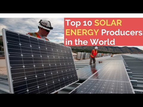 TOP 10 Most Solar Energy Producing Countries In The World 2019 | SOLAR POWER |  Energy |