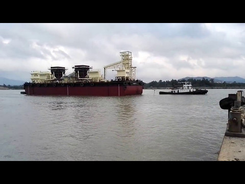 Cement Barge's  Sea Trial--Deyuan Marine