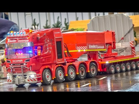 STUNNING RC truck heavy transport! Mind blowing Scania truck!