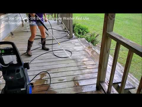 Sun Joe SPX3000 SJB Electric Pressure Washer | First Use | KimTownselYouTube