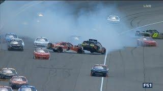 NASCAR Xfinity Series 2017. Michigan International Speedway. Multiple Crash