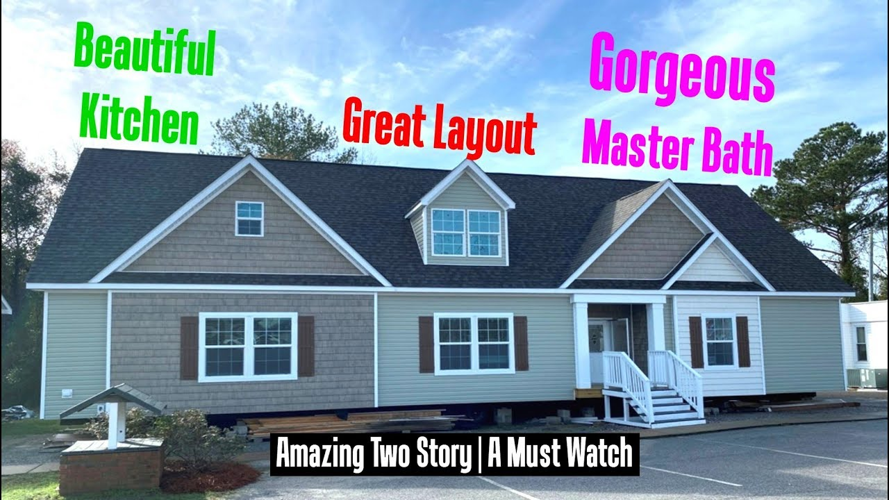 AMAZING TWO STORY Double Wide Mobile Home Heritage #2483 | 32x70 By on 6x8 bathroom designs floor plans, greenhouse plans, cliff may homes plans,