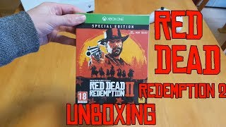 red dead redemption 2 ultimate edition unboxing