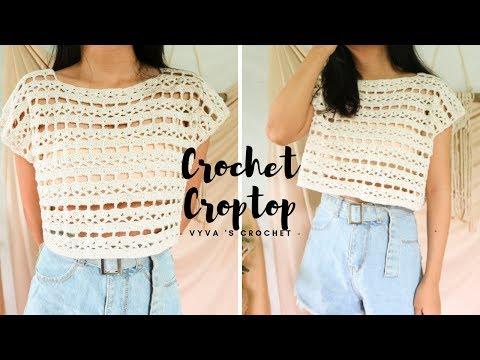 Crochet Croptop| Hướng Dẫn Móc áo Croptop đi Biển Khoác Ngoài BIKINI| Vyvascrochet