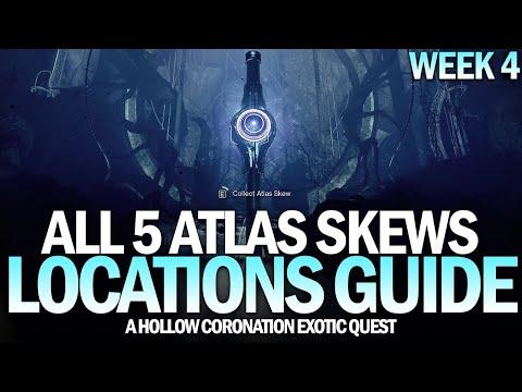 All 5 Atlas Skews Location Guide - A Hollow Coronation Exotic Quest (Week 4) [Destiny 2]
