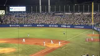 2018年8月14日ヤクルト対巨人川端慎吾逆転サヨナラタイムリーツーベース
