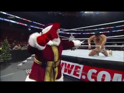 John Cena Vs. Alberto Del Rio - Miracle On 34th Street Fight Ending: Raw, Dec. 25, 2012