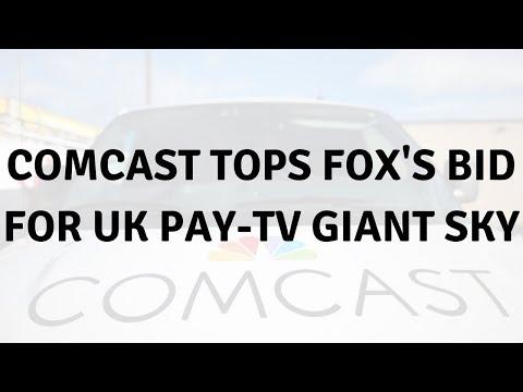 Daily Tech News - Comcast tops Fox's bid for UK pay-TV giant Sky