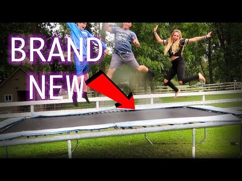 FINALLY FIXED OUR TRAMPOLINE// ranting about my haters..