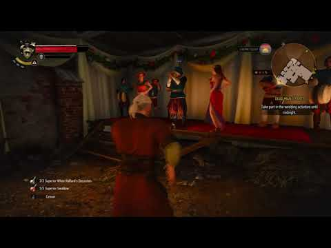 """The Witcher 3: Geralt dancing to Jaskier's song, """"Toss a coin to your Witcher"""""""