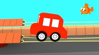 Cartoon Cars - RACE on STRINGS! - Cartoons for Children - Videos for kids - Kids Cartoons