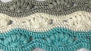Dalgalı Puf Bebek Battaniye Yapımı (tığ ile) a ripple puff stitch baby blanket