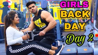 GIRLS BACK WORKOUT AT GYM| PART-2 | PROPER GUIDANCE BY BADRI FITNESS
