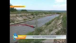 Пятна нефти появились на реке Ангаре(, 2015-06-26T07:25:33.000Z)