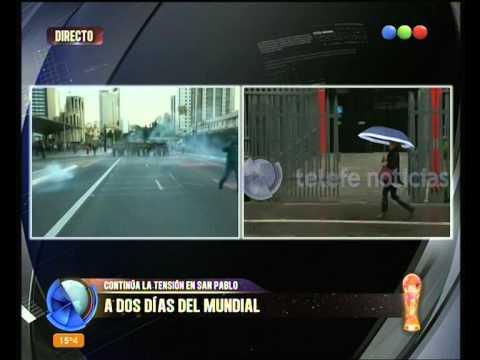 A dos días del Mundial, sigue la tensión en San Pablo - Telefe Noticias
