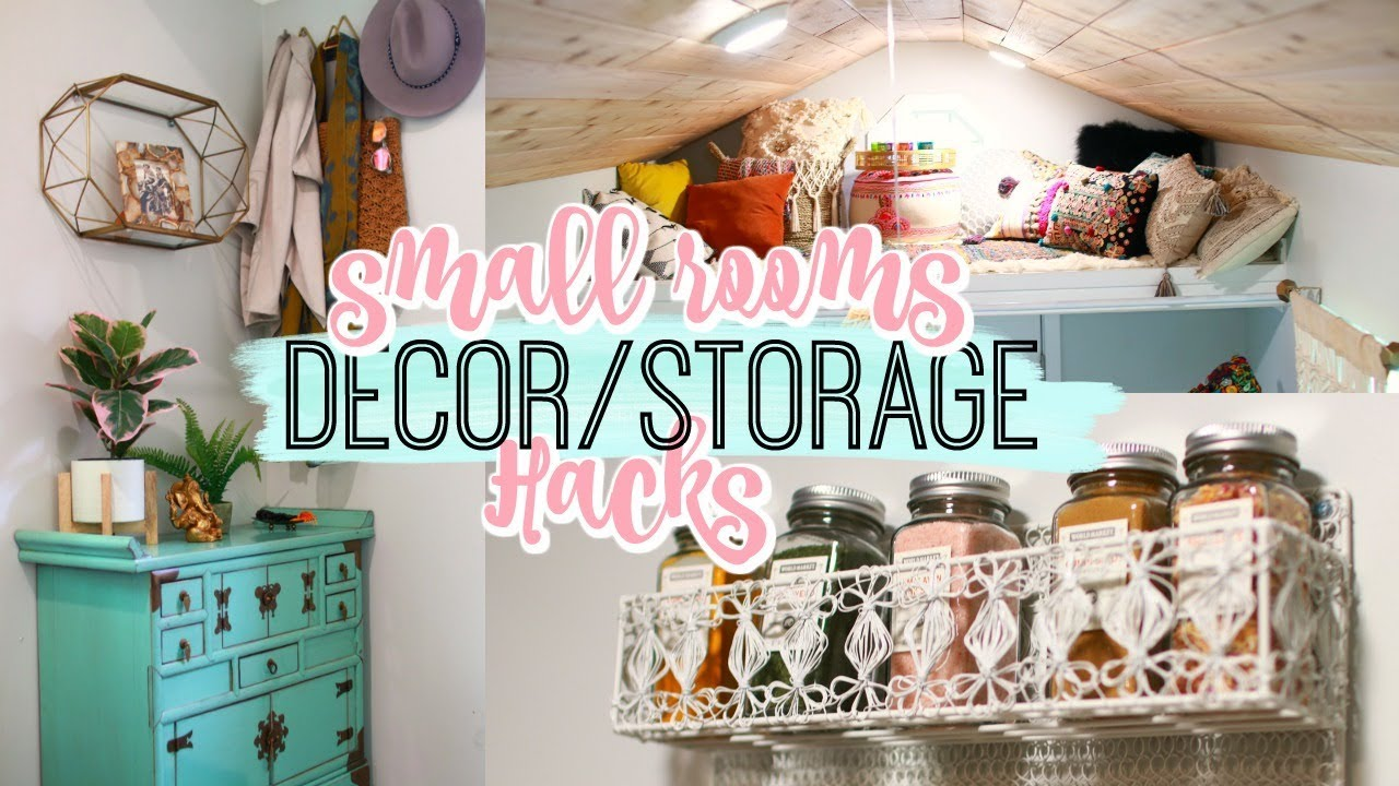 HOME DECOR/STORAGE HACKS FOR SMALL ROOMS