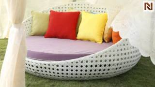 Outdoor Round Day Bed With Optional Cushion Vgcws3056