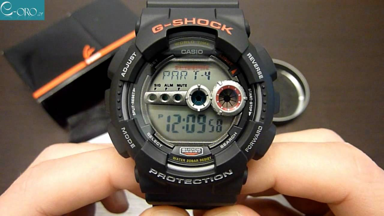 960044cd2 CASIO G-Shock Mens Watch GD-100-1AER - E-oro.gr - YouTube