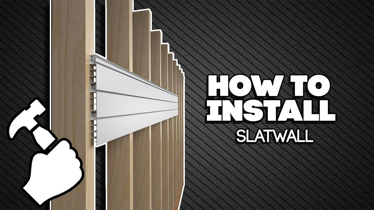 How To Install Proslat Slatwall Youtube
