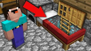 Minecraft NOOB vs PRO: ¡SOLO NOOB PUEDE ENCONTRAR PUERTA SECRETA EN LA CAMA!Desafío de trolling 100%