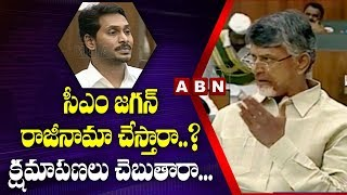 Chandrababu Naidu Open Challenge To YS Jagan In Assembly Over 0 Loans AP Budget 2019 ABN Telugu