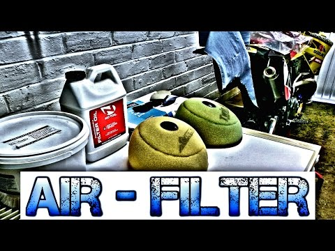 How to oil a motocross air filter