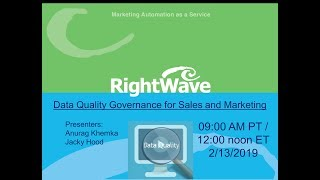 Webinar: Data Quality Governance for Sales & Marketing