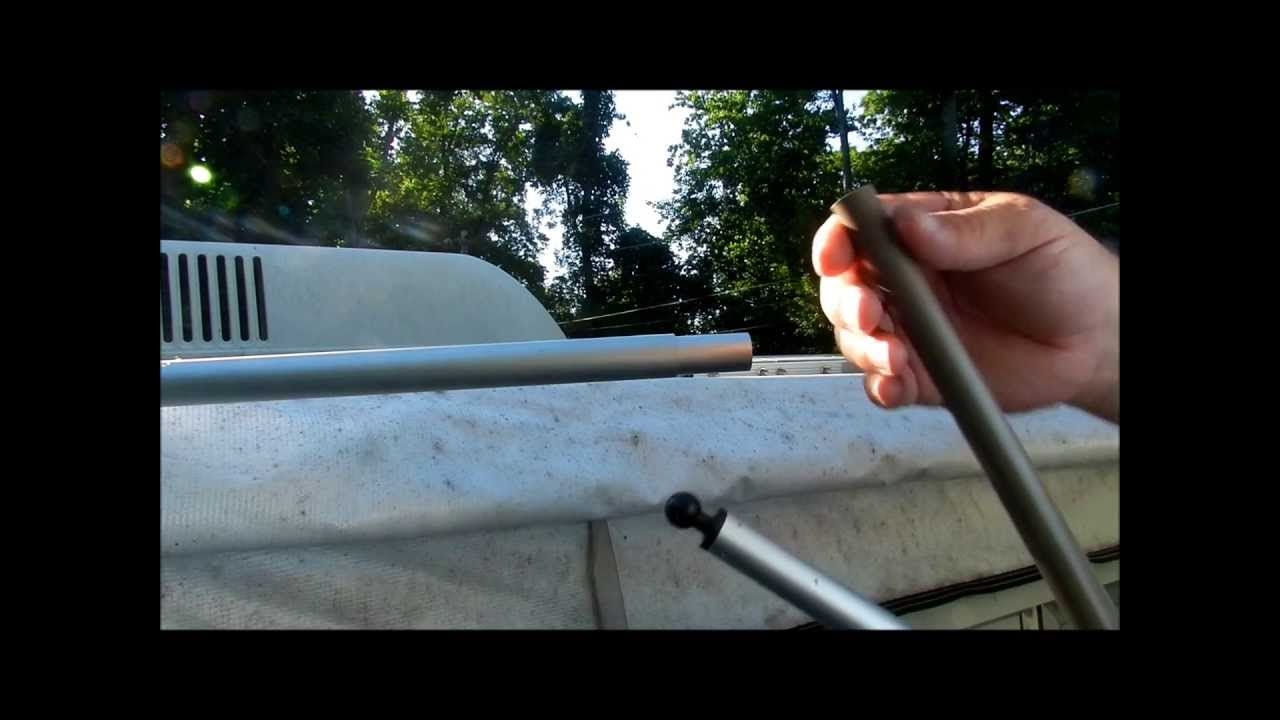 How To Repair A Pop Up Trailer Canopy Pole Youtube