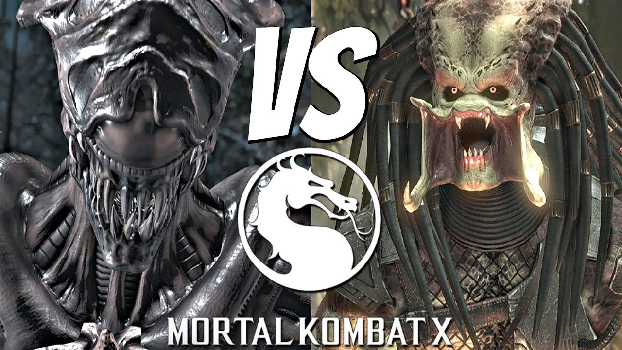 Mortal Kombat X Alien Vs Predator Matches Gameplay Brutality Fatality 1080p 60fps Youtube